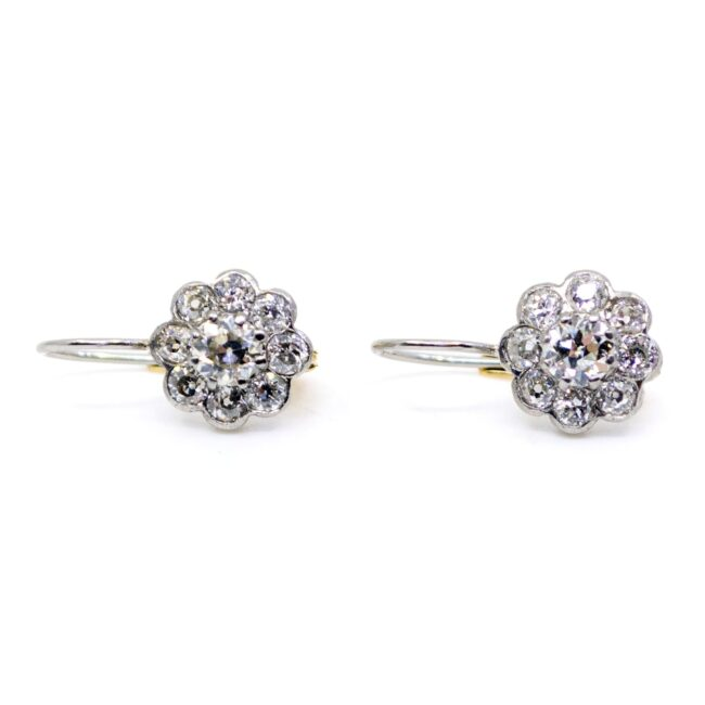 Diamond, Platinum, Gold Earrings 4982AP Image2