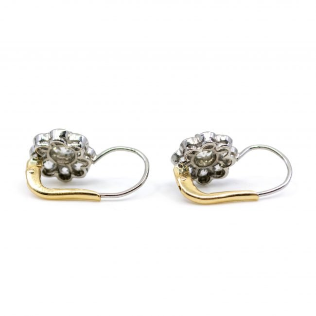 Diamond, Platinum, Gold Earrings 4982AP Image4