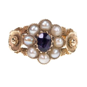 Amethyst, Pearl, Gold Ring 0843SY Image1