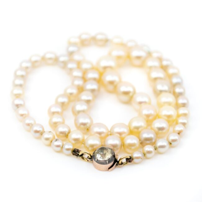 Gold, Paste, Pearl, Necklace 0146RM Image2