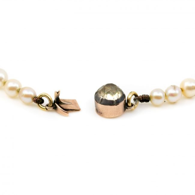 Gold, Paste, Pearl, Necklace 0146RM Image4