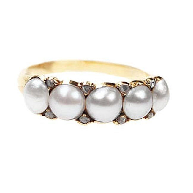 Pearl, Diamond Gold Ring 0877SY Image1