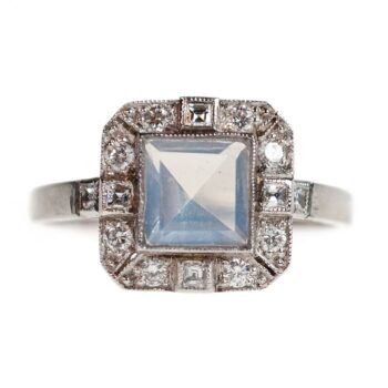 Moonstone, Diamond Platinum Ring 4682AP Image1