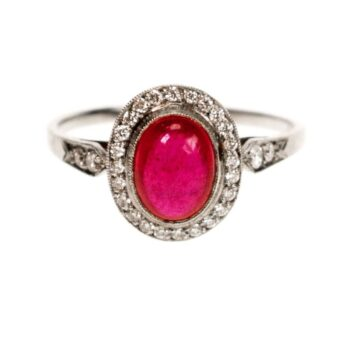 Ruby, Diamond Platinum Ring 4718AP Image1