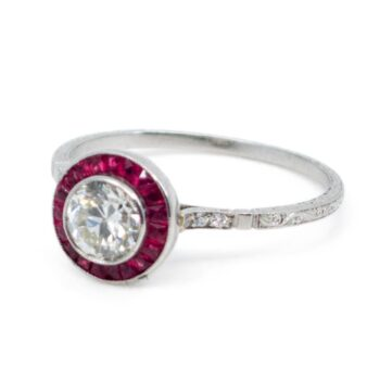 Diamond, Ruby, Platinum Ring 1830GM Image2
