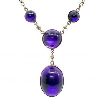 Amethyst, Diamond, Gold Necklace 0971SY Image1