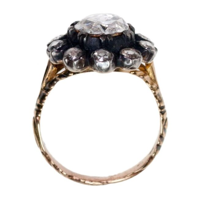Diamond, Silver, Gold Ring 7019AS Image3