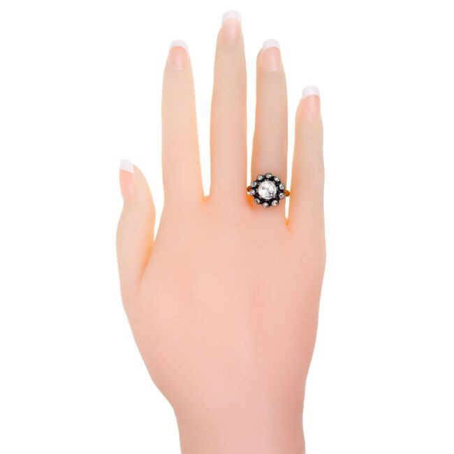 Diamond, Silver, Gold Ring 7019AS Image4