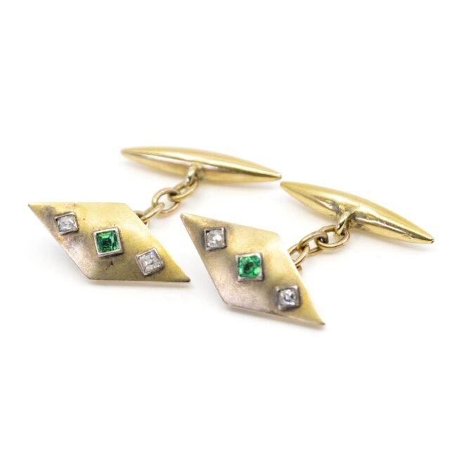 Diamond, Emerald, Gold Cufflinks 2021GM Image3