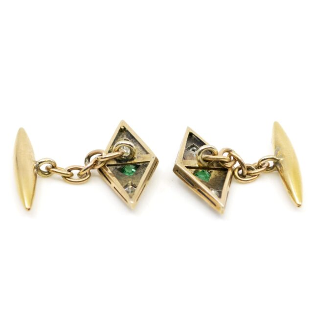 Diamond, Emerald, Gold Cufflinks 2021GM Image4