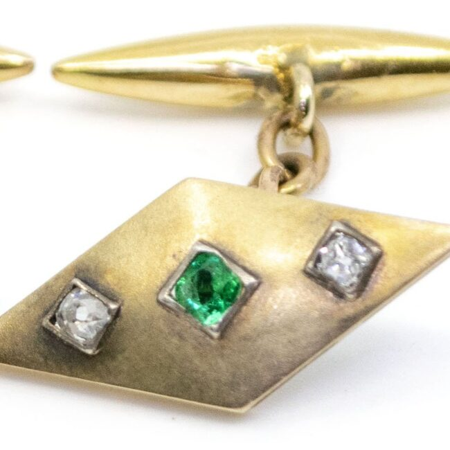 Diamond, Emerald, Gold Cufflinks 2021GM Image5