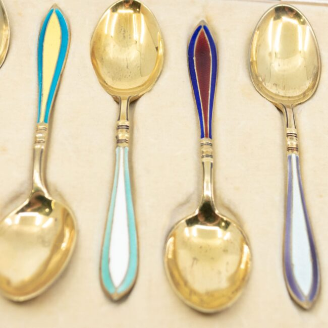 Enamel, Silver-gilt Spoon Set 2642LS Image3