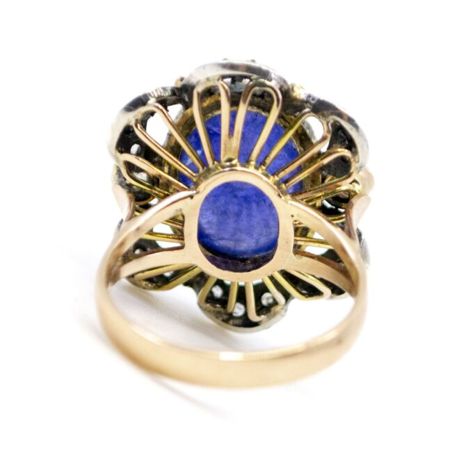 Lolite (water sapphire), Diamond, Gold, Silver Ring  0165TD 0165TD Image4