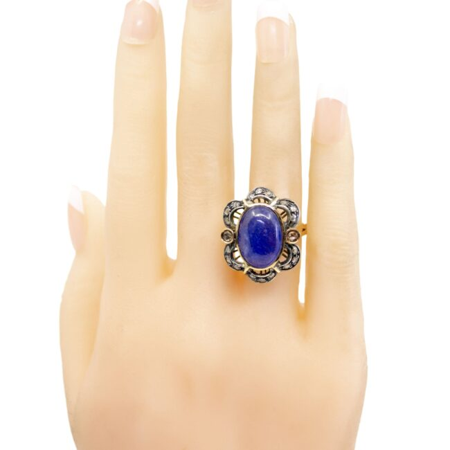Lolite (water sapphire), Diamond, Gold, Silver Ring  0165TD 0165TD Image5