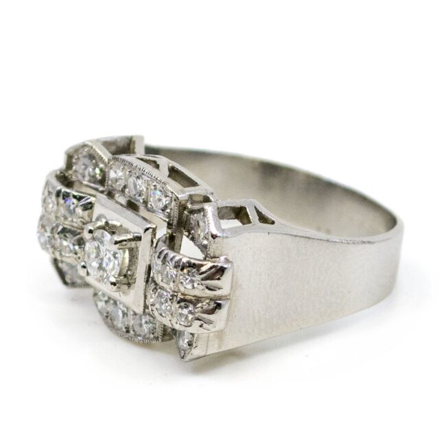 Diamond, Platinum Ring 0758LA Image2