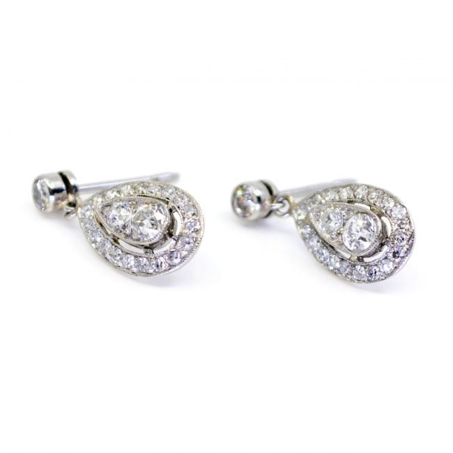 Diamond, Platinum Earrings 4674AP Image3