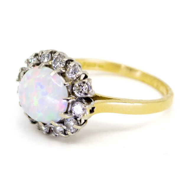 Opal, Diamond Gold Ring 1109SY Image2