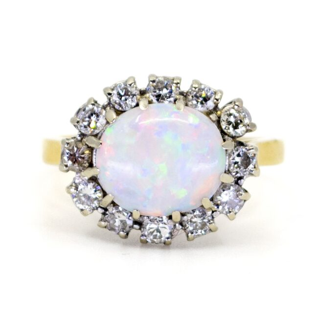 Opal, Diamond Gold Ring 1109SY Image1
