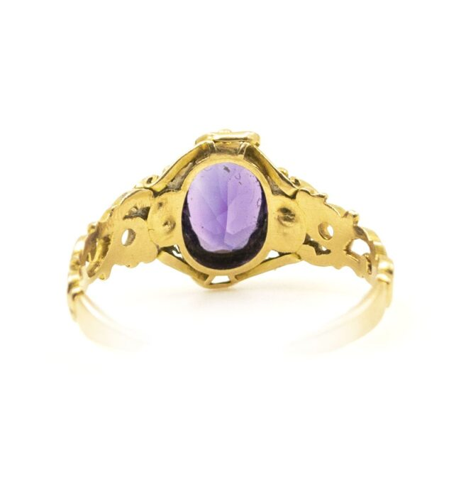 Amethyst, Pearl, Gold Ring 6694LA Image4