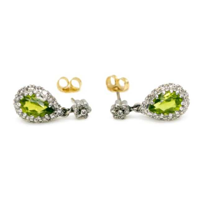 Diamond, Peridot, Gold Earrings 6683LA Image2