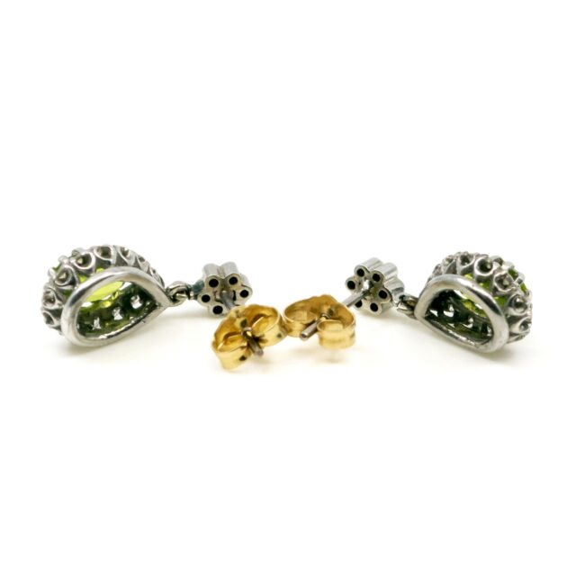Diamond, Peridot, Gold Earrings 6683LA Image3