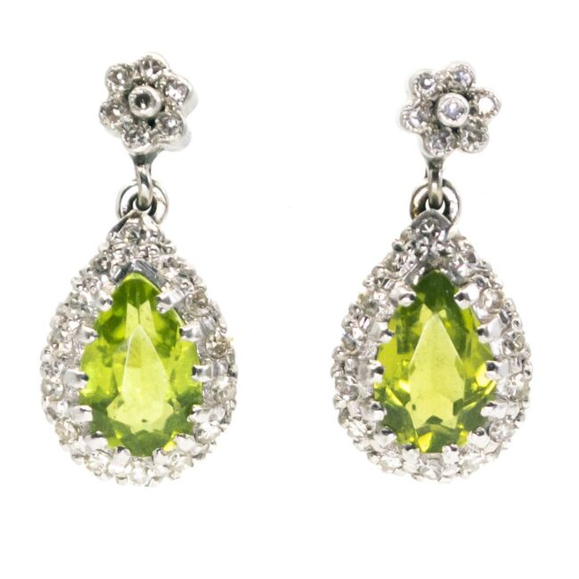 Diamond, Peridot, Gold Earrings 6683LA Image1