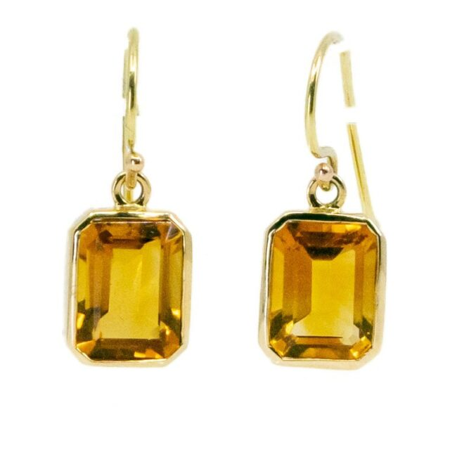 Citrine, Gold Earrings 6774LA Image2