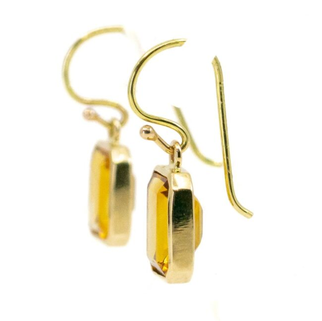 Citrine, Gold Earrings 6774LA Image3