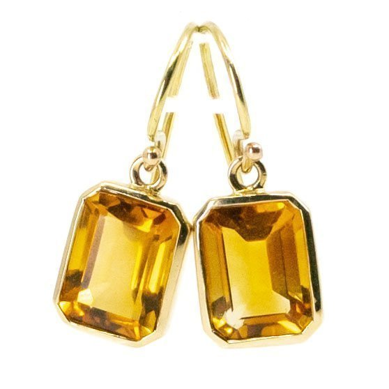Citrine, Gold Earrings 6774LA Image1