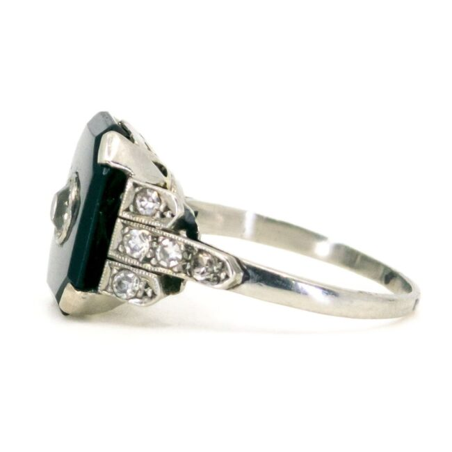 Onyx, Diamond, Platinum Ring 6238EE 6238LA Image3