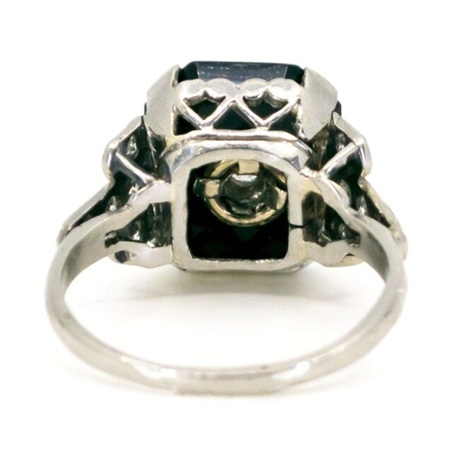 Onyx, Diamond, Platinum Ring 6238EE 6238LA Image4
