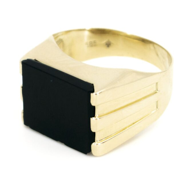 Onyx, Gold Ring 6780LA Image2