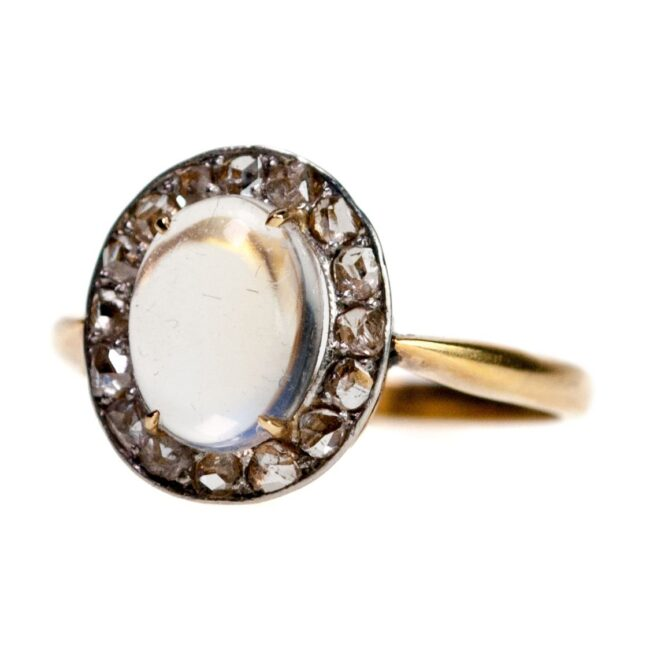 Moonstone, Diamond Ring 0989SY Image2