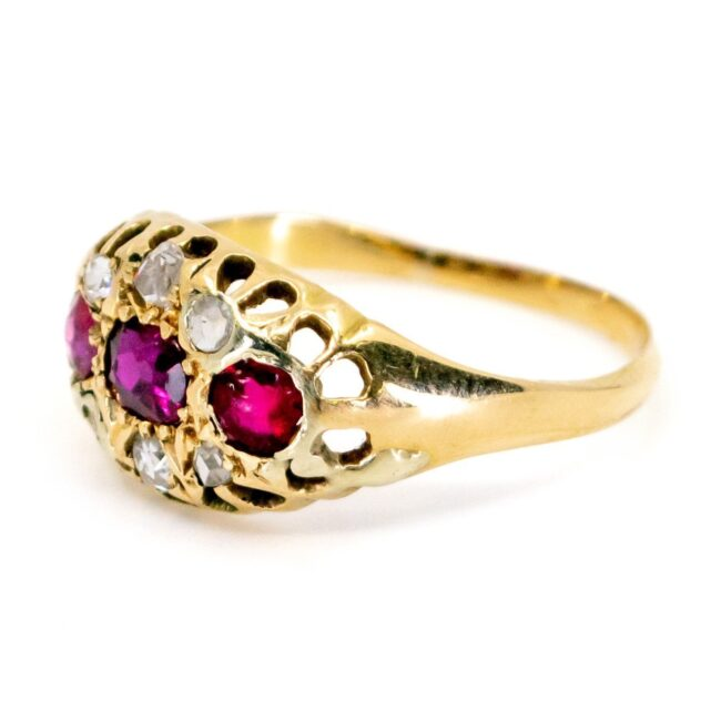 Ruby, Diamond Gold Ring 1457SY Image2