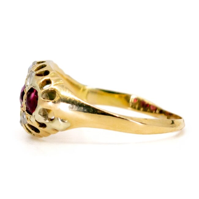 Ruby, Diamond Gold Ring 1457SY Image3