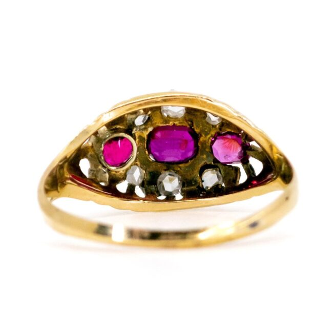 Ruby, Diamond Gold Ring 1457SY Image4