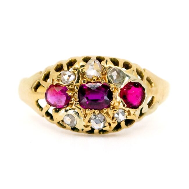 Ruby, Diamond Gold Ring 1457SY Image1