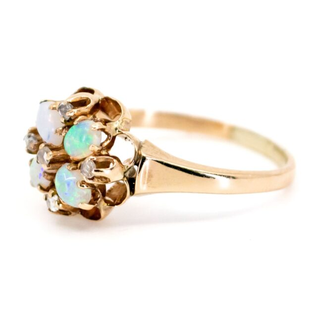 Opal, Diamond, Gold Ring 7069LA Image2