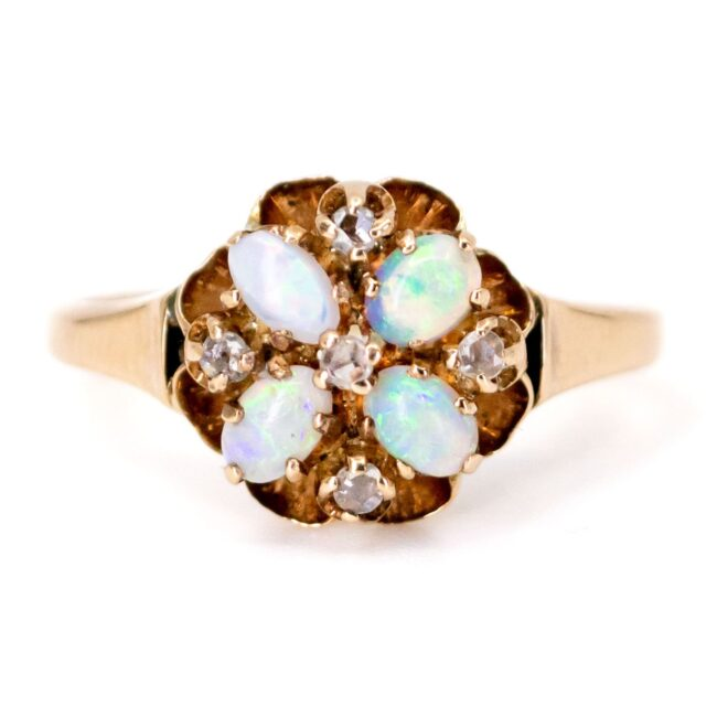 Opal, Diamond, Gold Ring 7069LA Image1