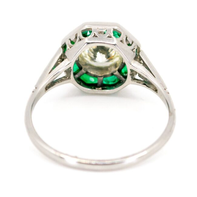 Diamond, Emerald, Platinum Ring 6180CN Image4