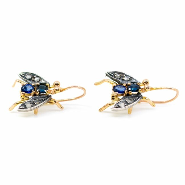 Diamond, Sapphire, Gold Earrings 6288LA Image2