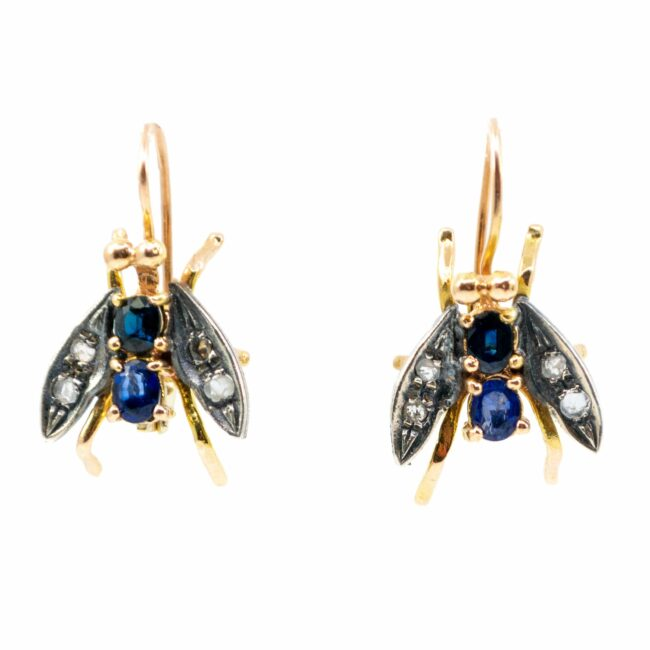 Diamond, Sapphire, Gold Earrings 6288LA Image1