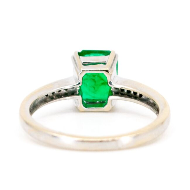Emerald, Diamond, Gold Ring 7337LA Image4