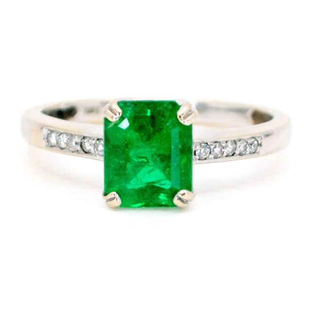 Emerald, Diamond, Gold Ring 7337LA Image1