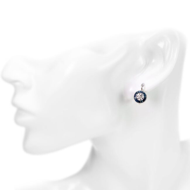 Diamond, Sapphire, Platinum Earrings 4924AP Image2