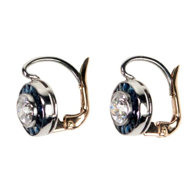 Diamond, Sapphire, Platinum Earrings 4924AP Image3