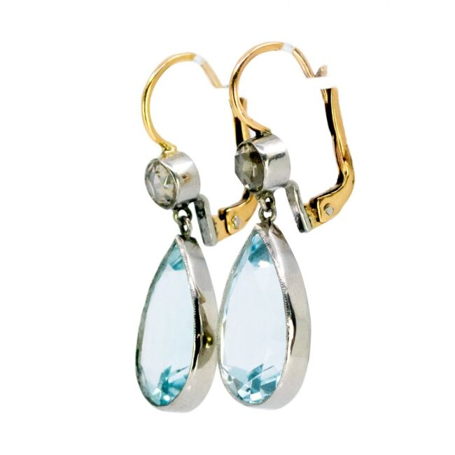 Aquamarine, Diamond, Gold Earrings 6294CE Image2