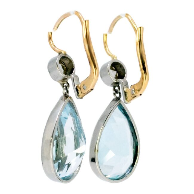 Aquamarine, Diamond, Gold Earrings 6294CE Image3