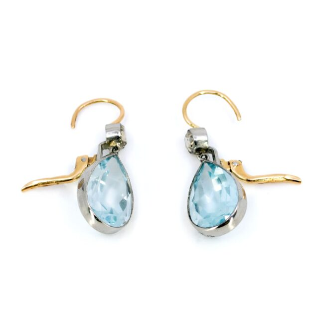 Aquamarine, Diamond, Gold Earrings 6294CE Image4