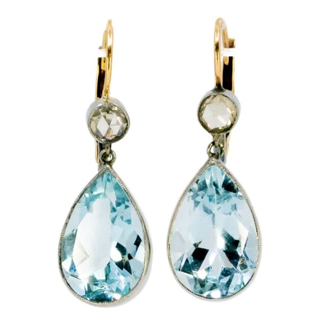 Aquamarine, Diamond, Gold Earrings 6294CE Image1